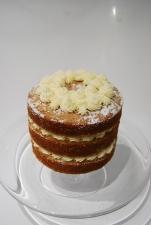 Victoria sponge with vanilla buttercream and raspberry jam