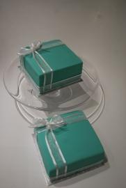 Tiffany style box cakes