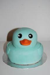 Blue Rubber ducky cake