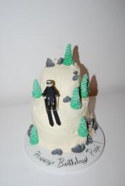 Skiing mountain cake