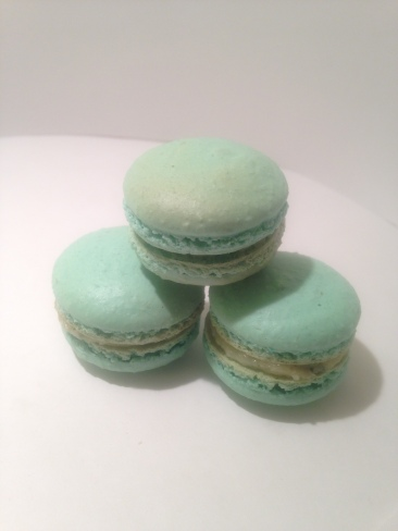 Peppermint macarons