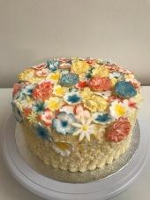 Gluten free Lemon cake with fondant flowers